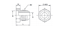 SAE 45° cone angle external thread joint